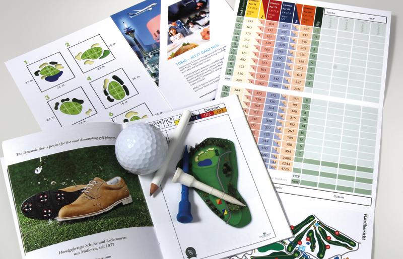 Golfdruckartikel und Präsenter